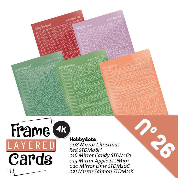 Hobbyjournaal - Stickerset - Frame Layered Cards - No. 26 - LCST026