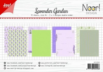 Joy! crafts - Noor! Design - Paperset - Lavender Garden - 6011/0591