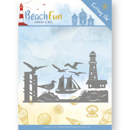 Jeanine`s Art - Die - Beach Fun Collection - Lighthouse Border - JAD10039