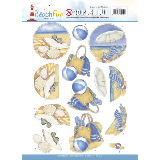 Jeanine`s Art - (3D-)Stansvel A4 - Beach Fun Collectie - Relax - SB10272