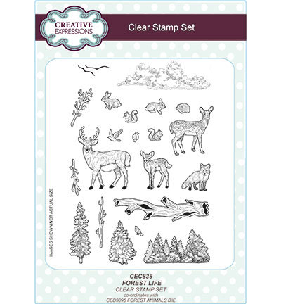 Creative Expressions - Clearstamp - Forest Life - CEC838