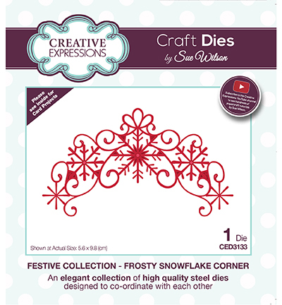 Creative Expressions - Die - The Festive Collection - Frosty Snowflake Corner - CED3133