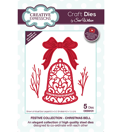 Creative Expressions - Die - The Festive Collection - Christmas Bell - CED3131