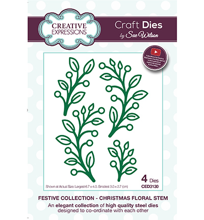 Creative Expressions - Die - The Festive Collection - Christmas Floral Stem - CED3130