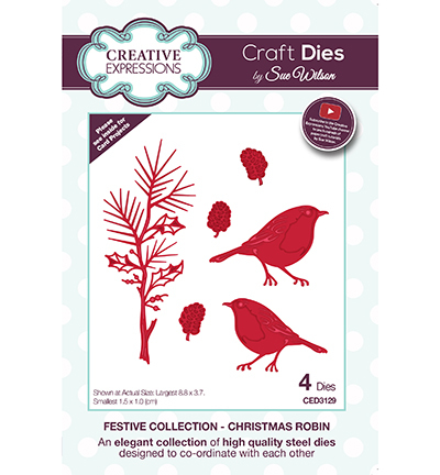 Creative Expressions - Die - The Festive Collection - Christmas Robin - CED3129