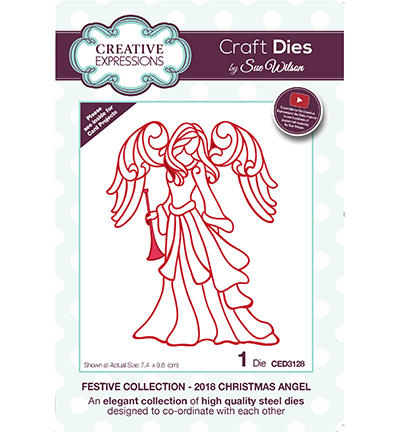 Creative Expressions - Die - The Festive Collection - 2018 Christmas Angel - CED3128