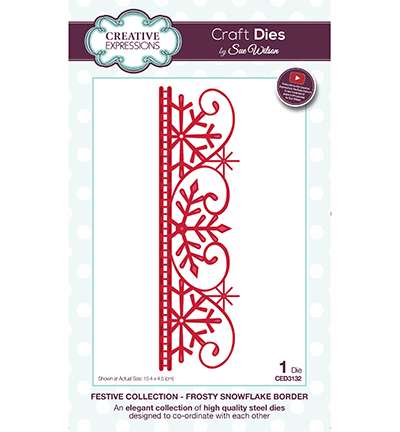 Creative Expressions - Die - The Festive Collection - Frosty Snowflake Border - CED3132