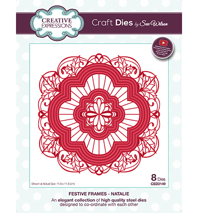 Creative Expressions - Die - The Festive Collection - Frames - Natalie - CED3149