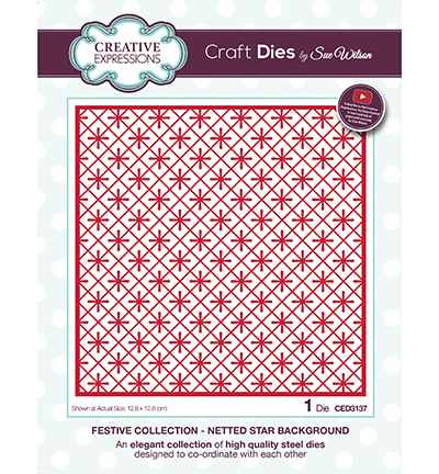 Creative Expressions - Die - The Festive Collection - Netted Star Background - CED3137
