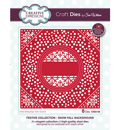Creative Expressions - Die - The Festive Collection - Snow Fall Background - CED3136