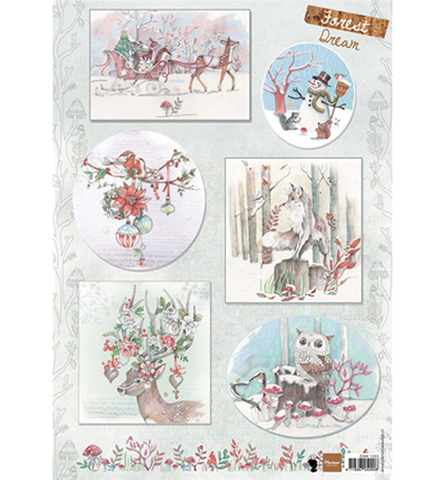 Marianne Design - Els Wezenbeek - 3D-knipvel A4 - Forest Dream 2 - EWK1263