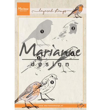 Marianne Design - Tiny`s - Clearstamp - Tiny`s Red Robin (layering) - TC0866