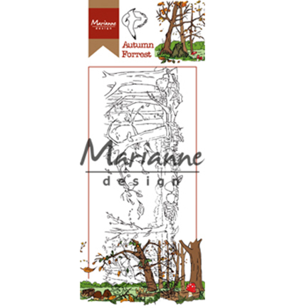 Marianne Design - Hetty Meeuwsen - Clearstamp - Hetty`s Border Autumn Forest - HT1636