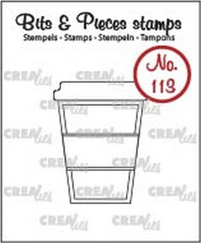 Crealies - Clearstamp - Bits & Pieces - No. 113 - Koffie om mee te nemen - CLBP113
