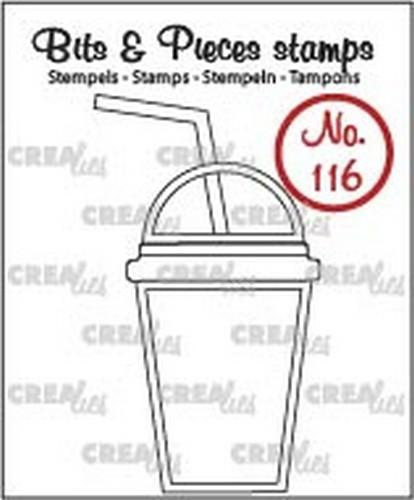 Crealies - Clearstamp - Bits & Pieces - No. 116 - Smoothie - CLBP116