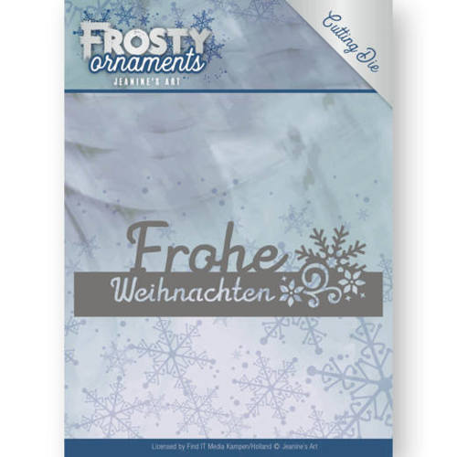 Jeanine`s Art - Die - Frosty Ornaments - Text Frohe Weihnachten - JAD10046