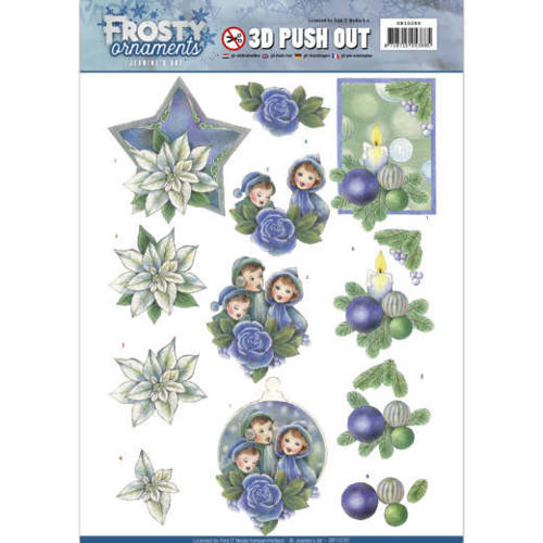 Jeanine`s Art - (3D-)Stansvel A4 - Frosty Ornaments - Blue Ornaments - SB10280