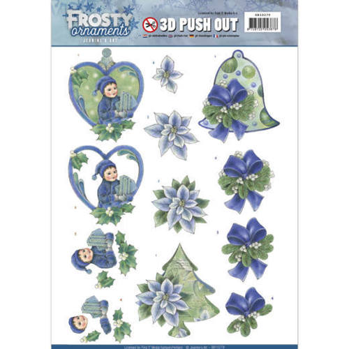 Jeanine`s Art - (3D-)Stansvel A4 - Frosty Ornaments - Green Ornaments - SB10279