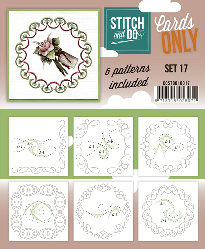 Card Deco - Stitch & Do - Oplegkaarten - Cards only - Set 17 - COSTDO10017