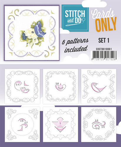 Card Deco - Stitch & Do - Oplegkaarten - Cards only - Set 1 - COSTDO10001
