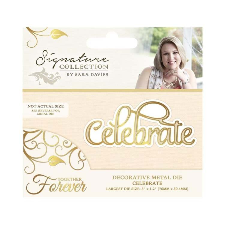 Crafter`s Companion - Sara Davies - Die - Together Forever - Celebrate - S-TF-MD-CELEB