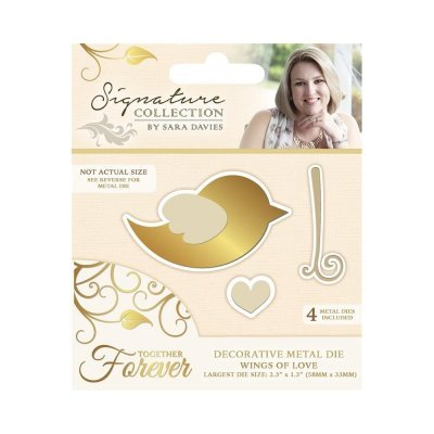 Crafter`s Companion - Sara Davies - Die - Together Forever - Wings of Love - S-TF-MD-BIRD