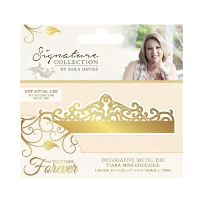 Crafter`s Companion - Sara Davies - Die - Together Forever - Tiara Mini Edgeable - S-TF-MD-TIARA