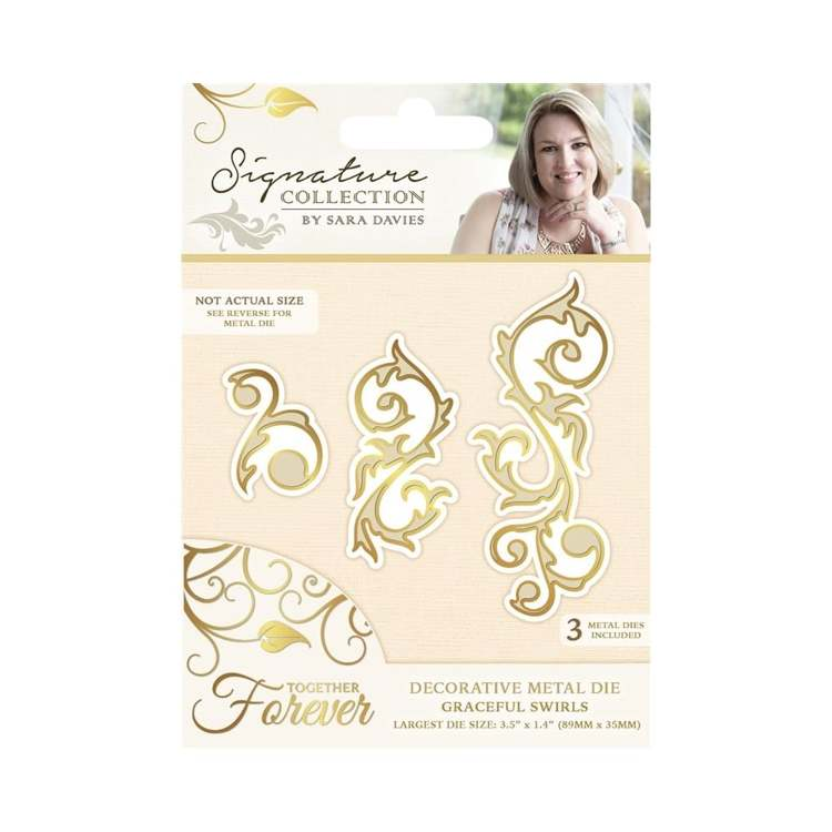 Crafter`s Companion - Sara Davies - Die - Together Forever - Graceful Swirls - S-TF-MD-GRACE