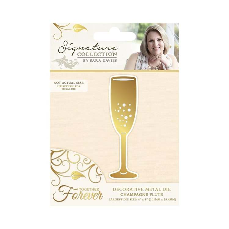 Crafter`s Companion - Sara Davies - Die - Together Forever - Champagne Flute - S-TF-MD-FLUTE