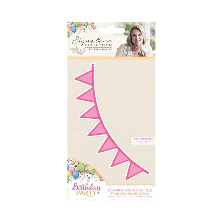 Crafter`s Companion - Sara Davies - Die - Birthday Party - Traditional Bunting - S-BP-MD-TRADB