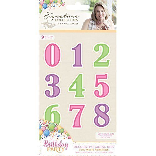 Crafter`s Companion - Sara Davies - Die - Birthday Party - Fun With Numbers - S-BP-MD-FNUM