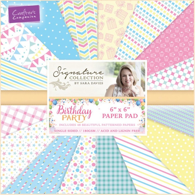 Crafter`s Companion - Sara Davies - Paperpack - Birthday Party - S-BP-PAD6