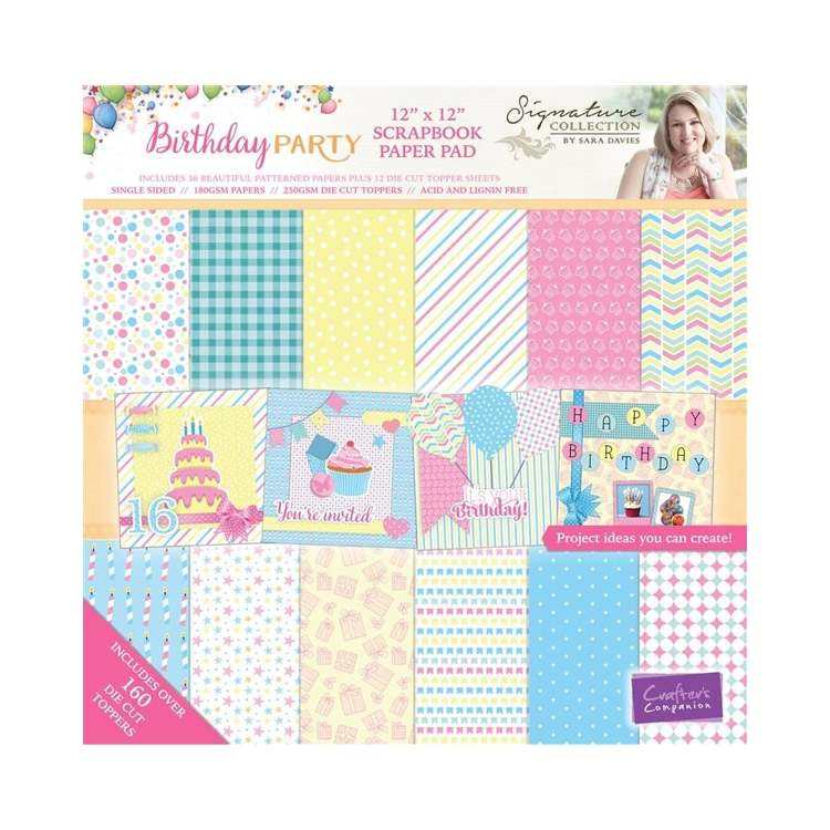 Crafter`s Companion - Sara Davies - Paperpack - Birthday Party - S-BP-PAD12