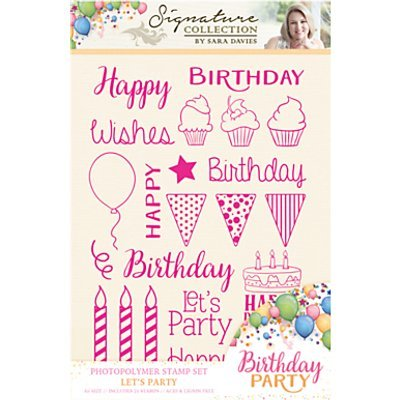 Crafter`s Companion - Sara Davies - Clearstamp - Birthday Party - S-BP-ST-PARTY