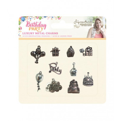 Crafter`s Companion - Sara Davies - Bedeltjes - Birthday Party - S-BP-CHAR