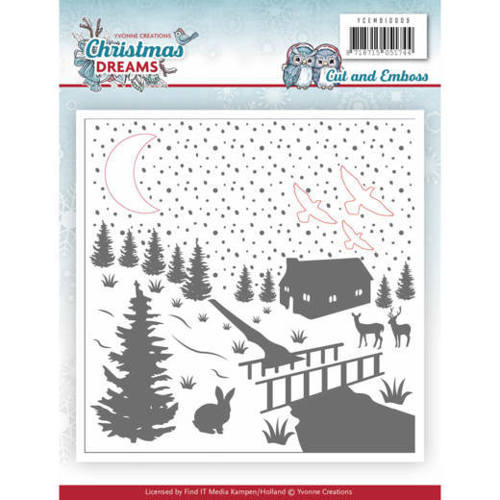 Yvonne Creations - Embossingfolder - Christmas Dreams - YCEMB10009