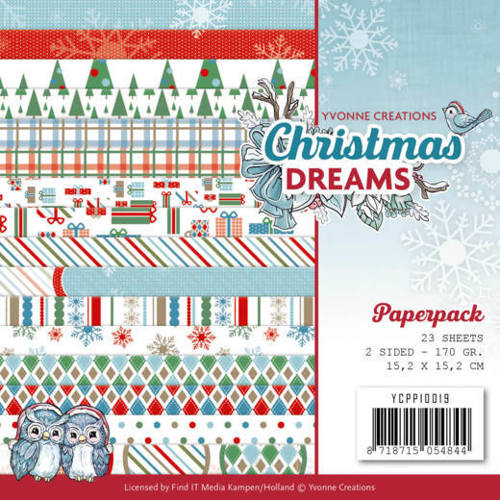 Yvonne Creations - Paperpack - Christmas Dreams - YCPP10019