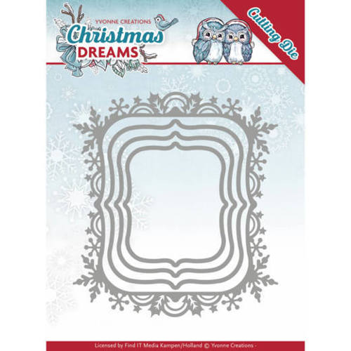 Yvonne Creations - Die - Christmas Dreams - Snowflake Rectangle - YCD10142