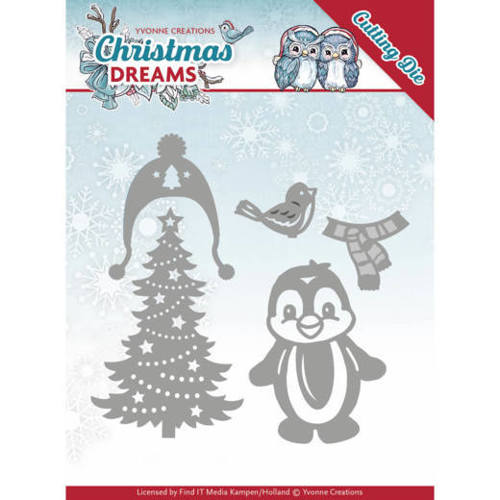 Yvonne Creations - Die - Christmas Dreams - Christmas Penguin - YCD10144