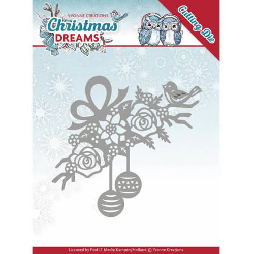 Yvonne Creations - Die - Christmas Dreams - Bauble Ornament - YCD10146