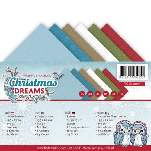 Yvonne Creations - Linnenpakket 135 x 270mm - Christmas Dreams - YC-4K-10015