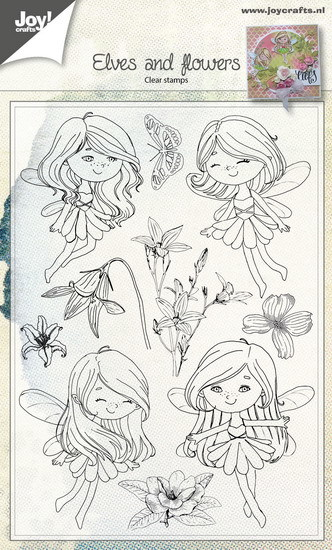 Joy! crafts - Clearstamp - Elves and flowers - 6410/0483