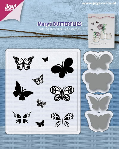 Joy! crafts - Clearstamp met mal - Mery's butterflies - 6004/0032