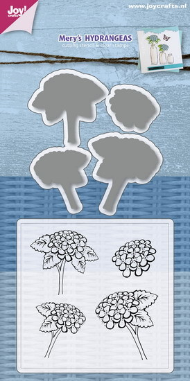 Joy! crafts - Clearstamp met mal - Mery's hydrangeas - 6004/0031