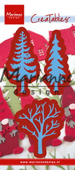 Marianne Design - Die - CreaTables - Forest trees (set of 3) - LR0556