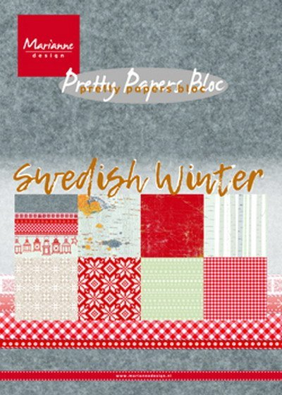 Marianne Design - Paperpack - Pretty Papers - Swedish Winter - PK9159