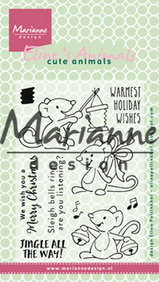 Marianne Design - Clearstamp - Eline's Christmas Mice - EC0174