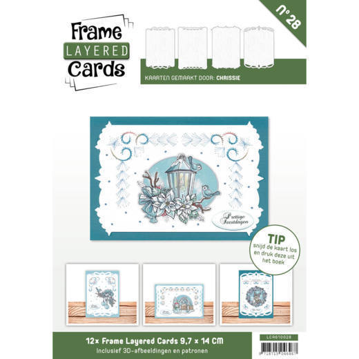 Card Deco - Frame Layered Cards - Book A6 - No. 28 - LCA610028