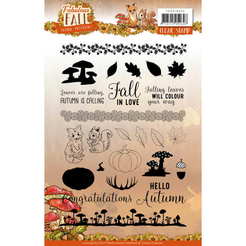 Yvonne Creations - Clearstamp - Fabulous Fall - YCCS10041