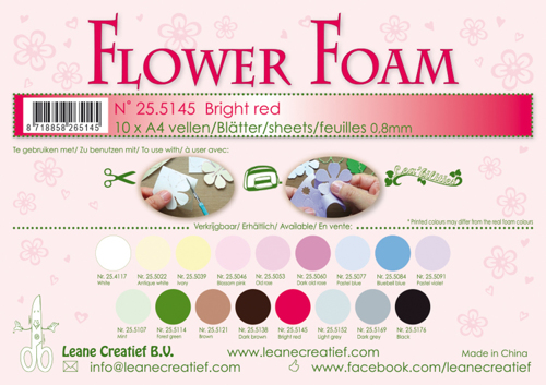 Leane Creatief - Flower Foam: Bright red - 25.5145